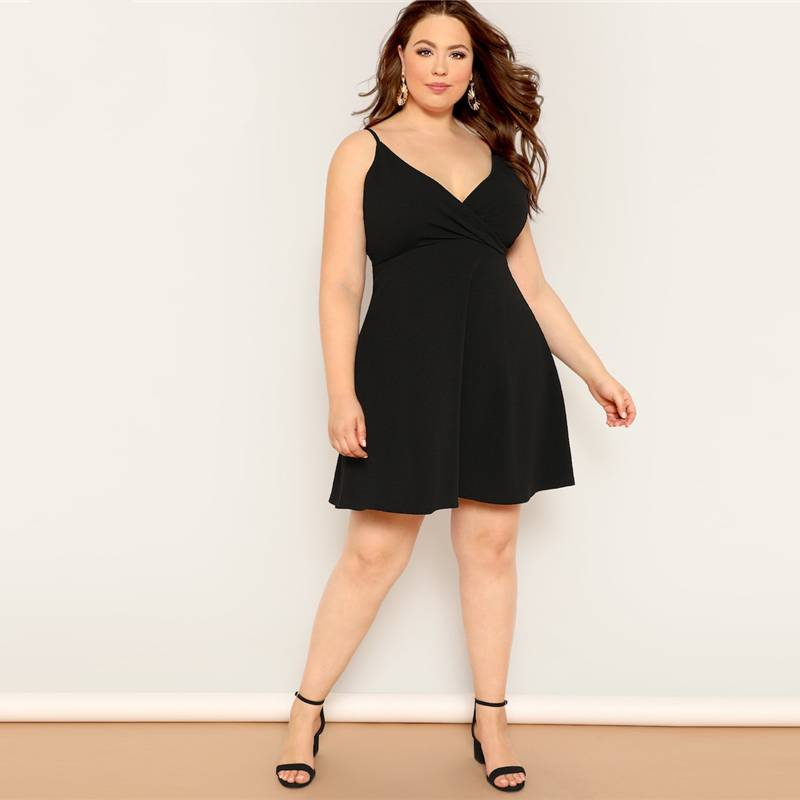 Surplice Neck Midi Dress