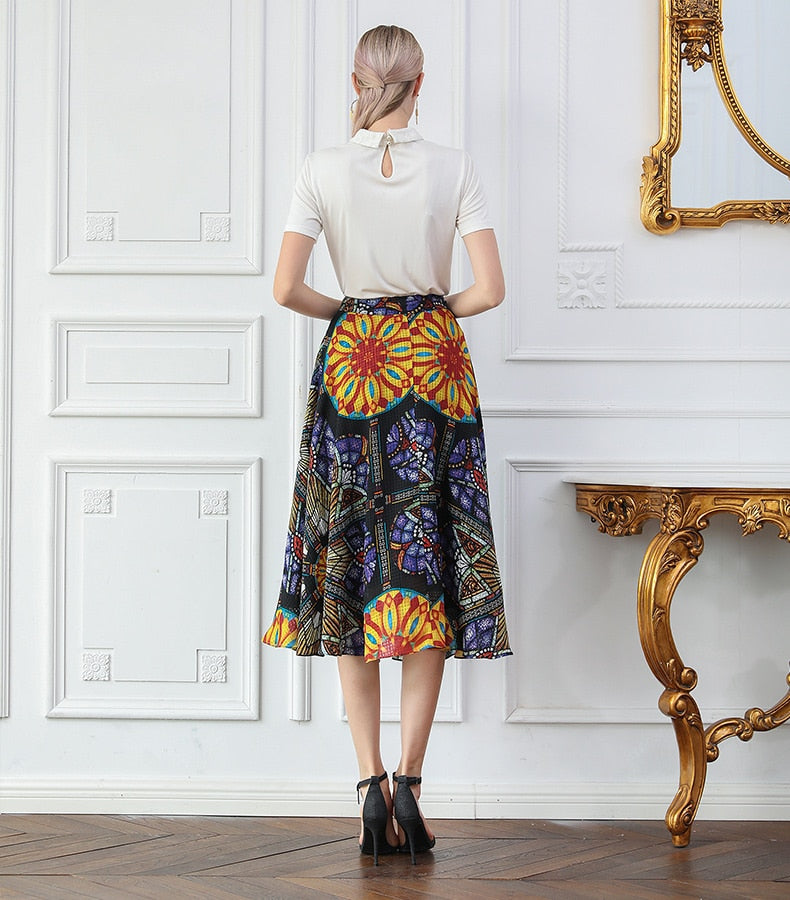 Silk Swing Skirt