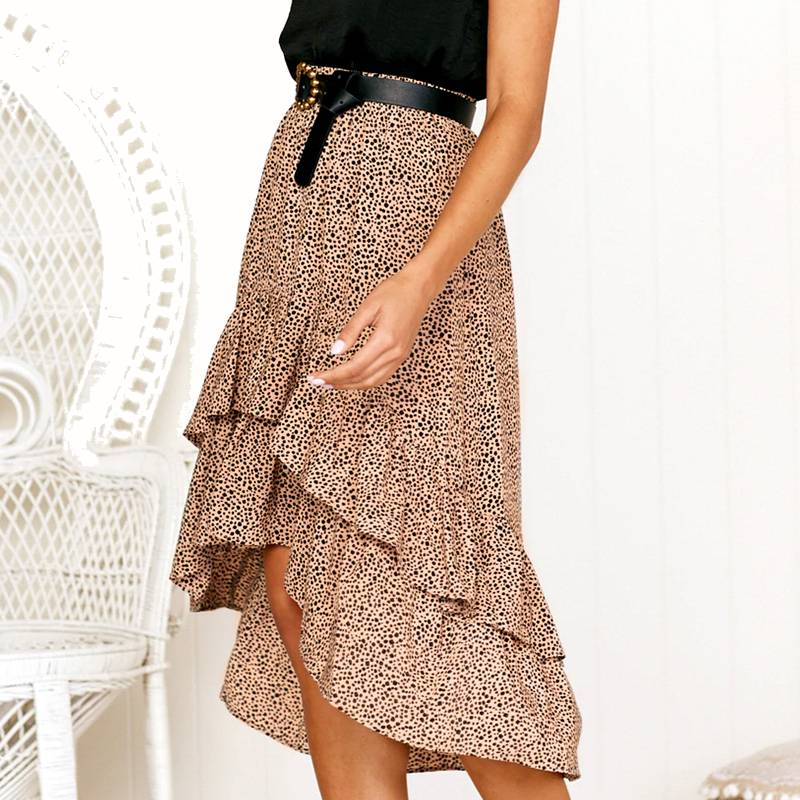 High Waist Flounce Skirt