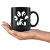 Dogs - Dog Pawprint 11oz Black Mug-Drinkware-I love Veterinary