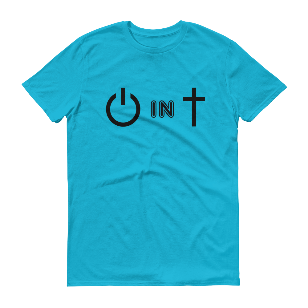 Blue Power In Christ Design Tee