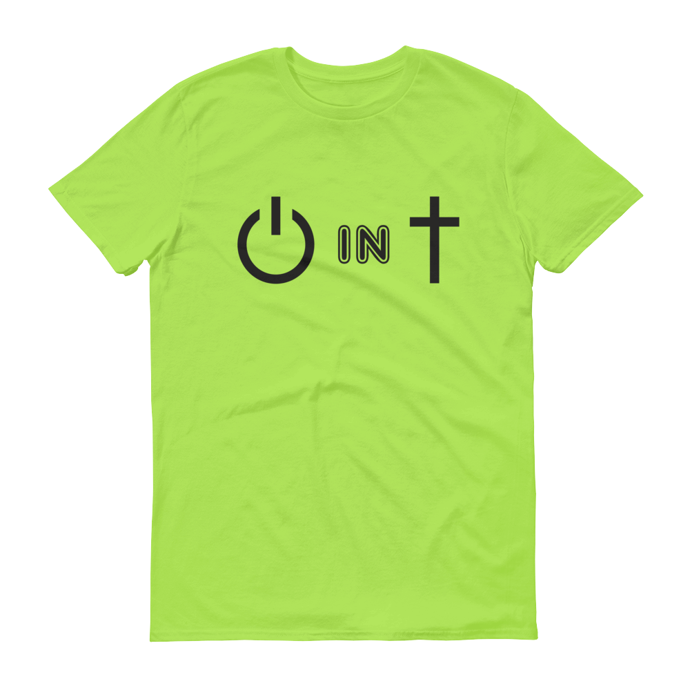 Lime Power In Christ Design Tee
