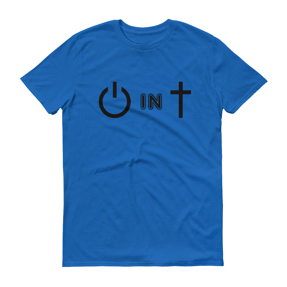 Royal Blue Power In Christ Design Tee