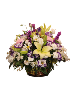 Wicker Basket Mixed Flower Small