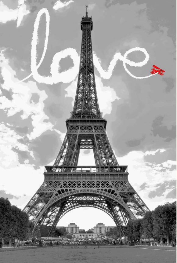 Blanket Queen Signature Select - Eiffel Tower Love 1166