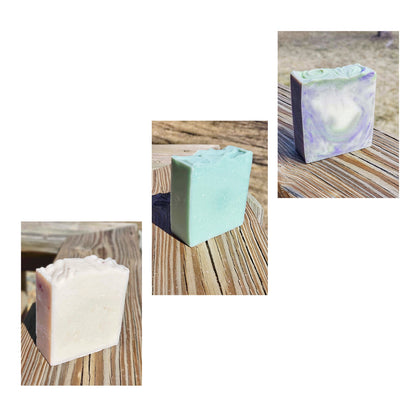 Handcrafted Hemp Infused Shampoo Body Bars