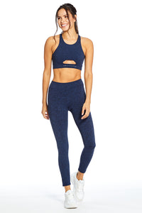 Logan Inhale/Exhale Leggings ~ Navy Heather