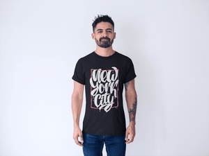 Men's Cotton Crew Tee – New York City T-Shirt Printify