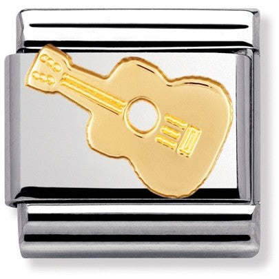 Nomination Classic Gold Charm - Guitar