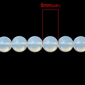 LASPERAL Loose Beads Imitation Opal Moon Stone Beads Cat Eye Round Frosted Spacer Beads DIY Beading Bracelets Necklaces Jewelry
