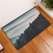 2017 New Painting Tree Print Carpets Non-slip Kitchen Rugs for Home Living Room Floor Mats 40x60cm