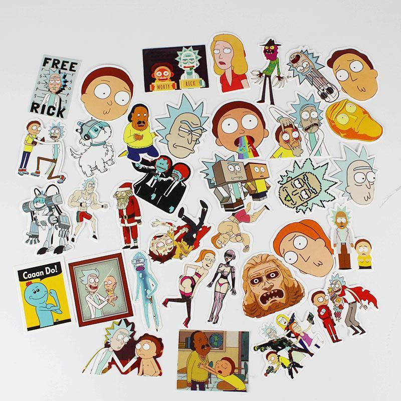 EXTAZ Stickers 35 Stickers - Rick et Morty