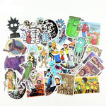 EXTAZ Stickers 50 Stickers - Rick et Morty
