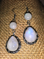 Rainbow Moonstone 925 Sterling Silver Earrings - WATERBURY JEWELS