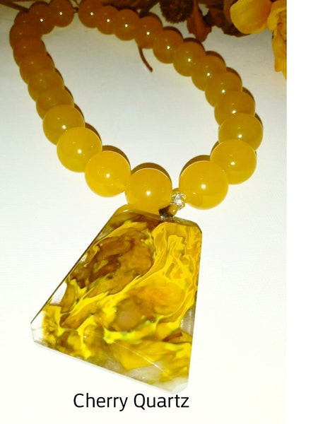 Volcanic Quartz & Aventurine Necklace - WATERBURY JEWELS