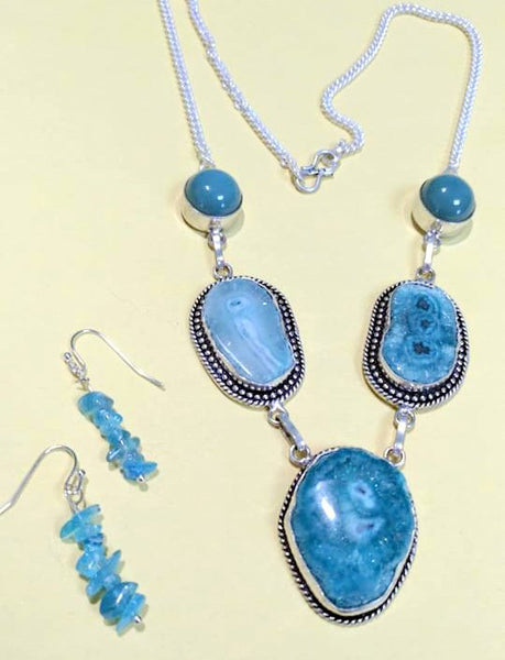 Solar Quartz Necklace & Earring Set - WATERBURY JEWELS