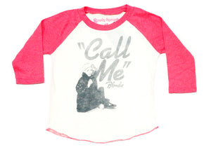 Blondie Call Me Raglan Kids Tee