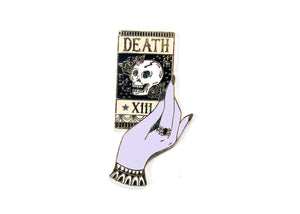 Death Tarot Card Enamel Pin