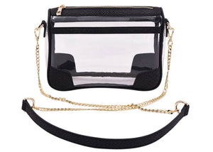The Drake Clear Bag In Black Snake