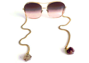 Farrah Sunglasses in Brown Lens with Citrine