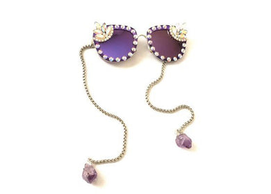 Magic Castle Sunglasses with Swarovski Crystals & Amethyst