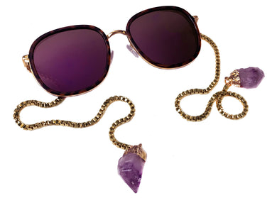 Purple Rain Sunglasses with Amethyst