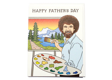 Bob Ross Father's Day Card