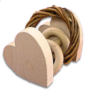 Heart Willow Ring Rattle