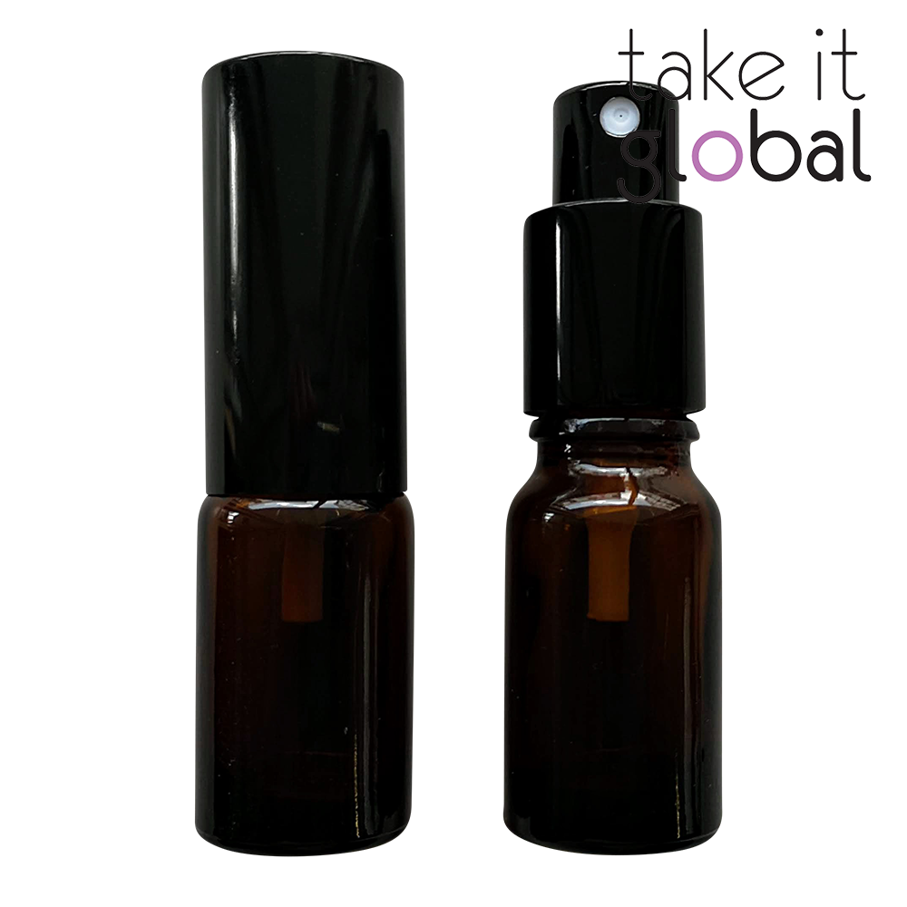 10ml Glass Bottle Mist Spray / Sprayer Pump For Essential Oil / Cosmetics