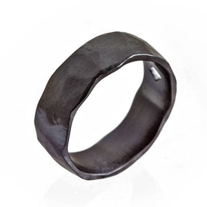 Black Ring, His New Wedding Ring, 8mm Wedding Band, Best Ring for Men, Wide Zirconium Ring, Durable Wide Men's Ring w\ Matte Finishing