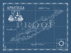 Map of Anguilla, British West Indies