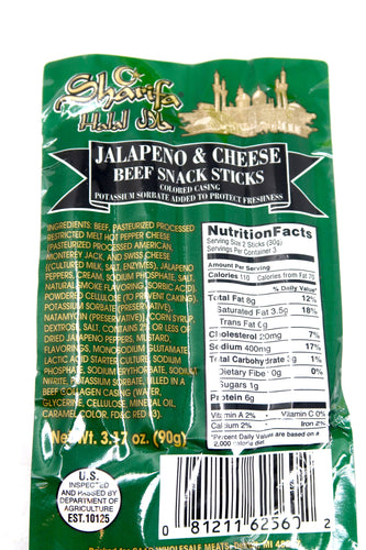 Sharifa Jalapeno and Cheese Beef Sticks