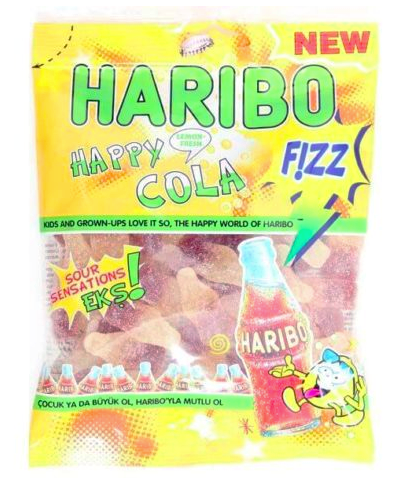 Haribo Fizzy Happy Cola (Halal imported from Turkey)