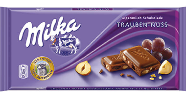 Milka Fruit and Nut Chocolate Bar