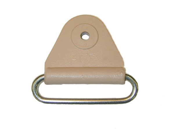 "CHAFE 1"" TRIANGLE BEIGE W/ SS OVAL LOOP, 25/PK - 214185-02"