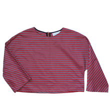 Elsa Top in Red/Blue Stripe - Danielle D Rollins