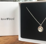 Lovebird Silver Seagull Silhouette Necklace - Large