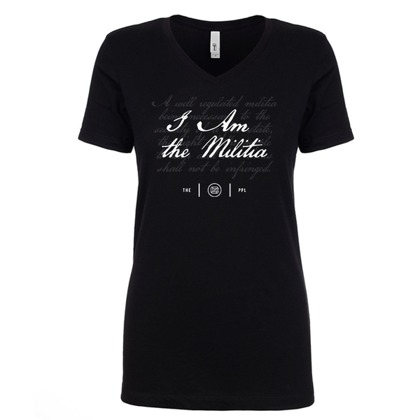 I Am the Militia Women's V Neck
