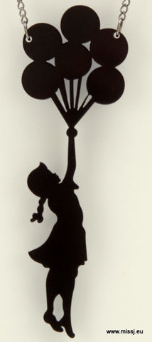 Banksy Girl With Balloons Necklace