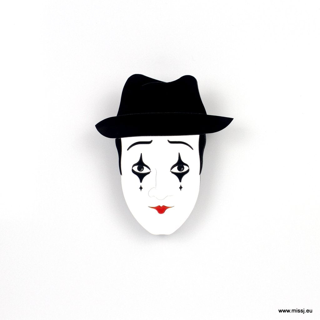 Mime Brooch