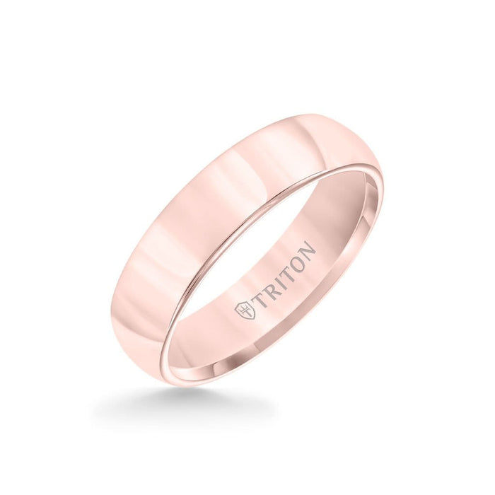 6MM Tungsten Carbide Ring - Domed Bright Finish and Round Edge