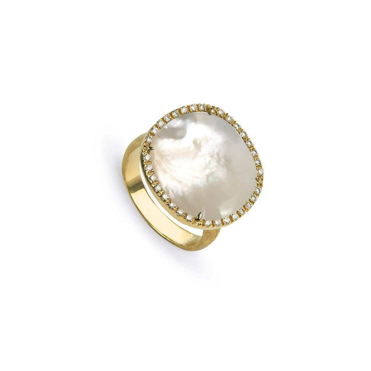 Jaipur Mother of Pearl and Diamond Large Ring
