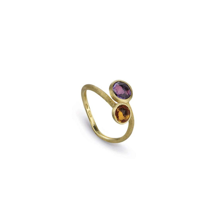 Jaipur Amethyst and Citrine Ring