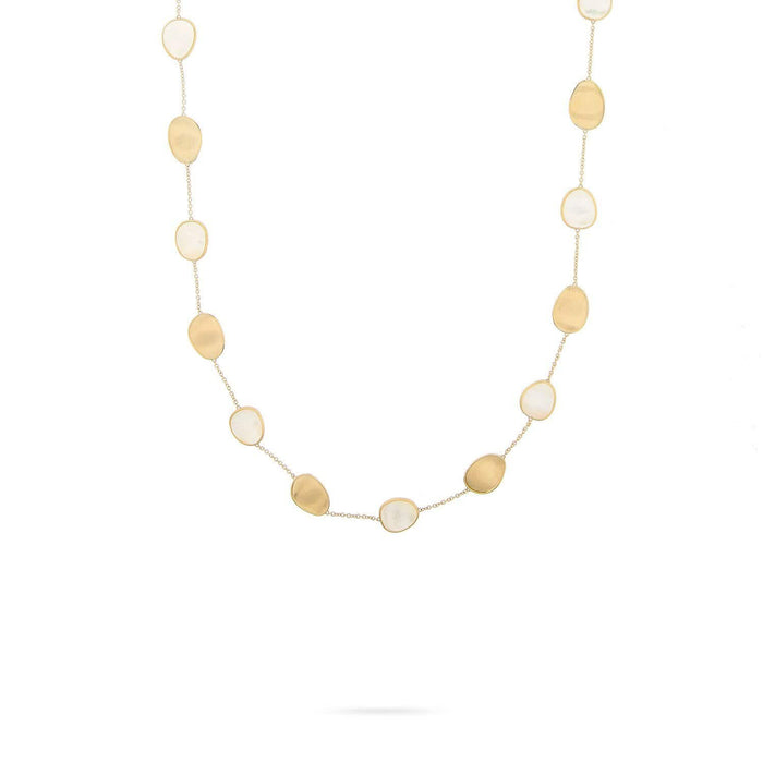 Lunaria Gold & White Mother of Pearl Short Necklace
