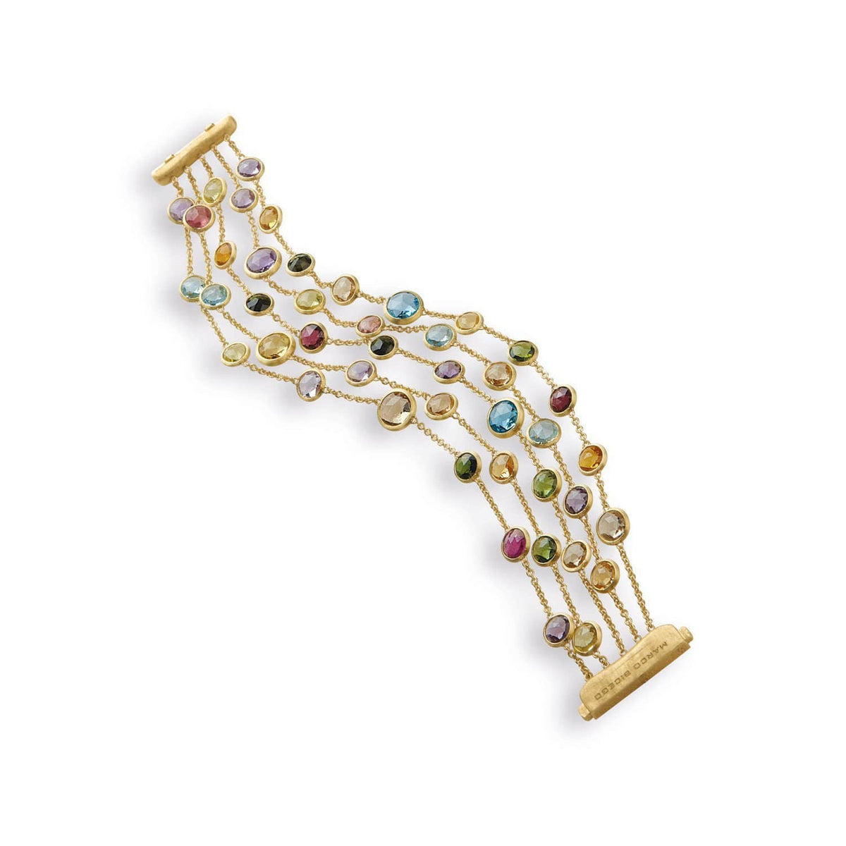 Jaipur Five Strand Mixed Stone Bracelet