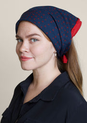 Bandana in Red and Navy