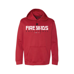 West Boys Volleyball Tech Hoodie (Red)