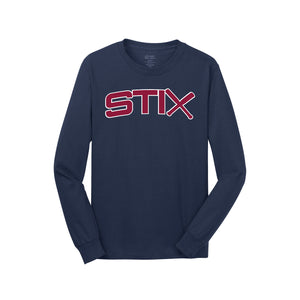 Cincy Stix Baseball LS Tee (Navy)