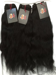 Jet Black Hair (Raw Indian Wavy and Natural Curly-Jet Black)