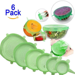 Reusable Stretch and Seal Lids (6 Pieces)